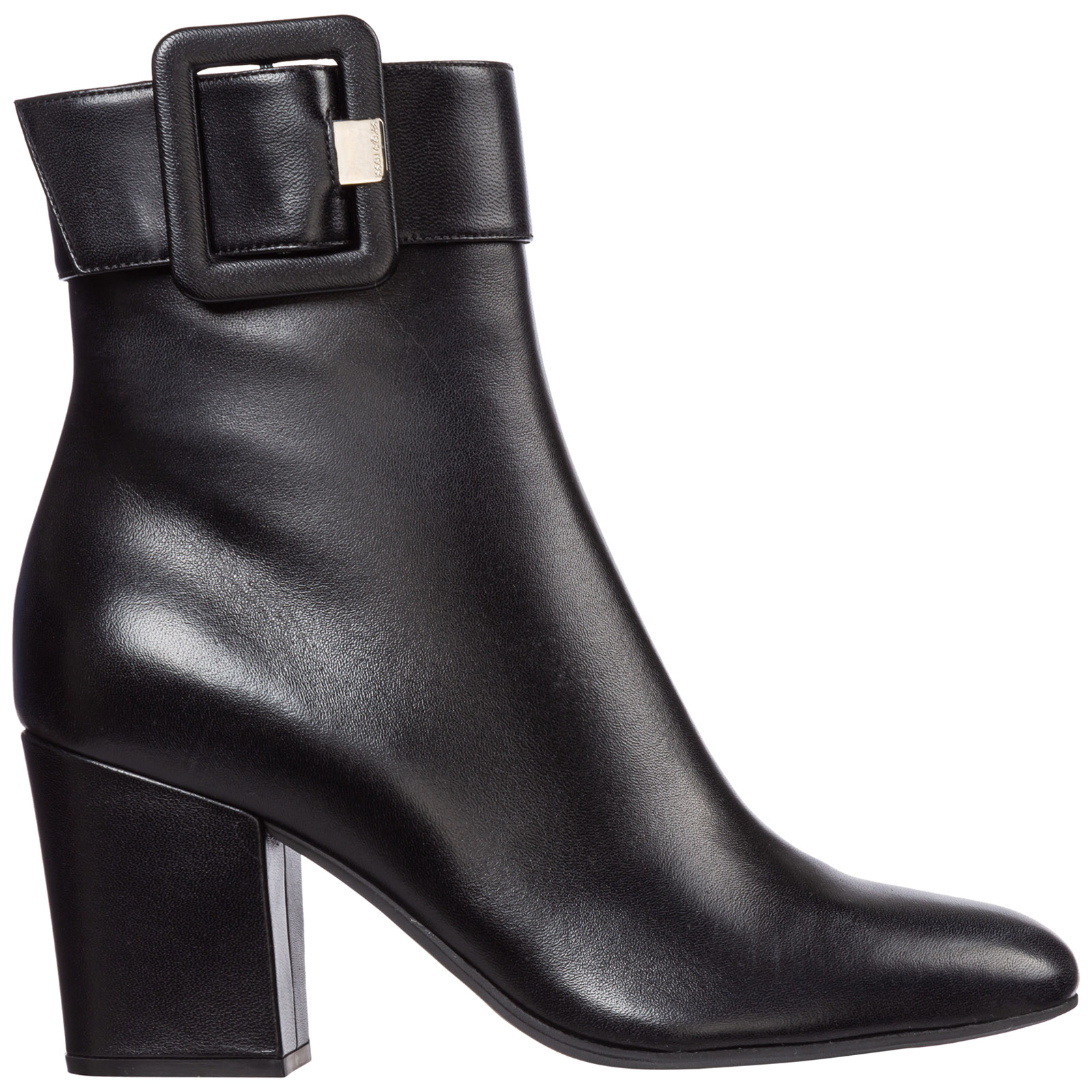 Sergio Rossi Boots WOMEN'S LEATHER HEEL ANKLE BOOTS BOOTIES SR MIA