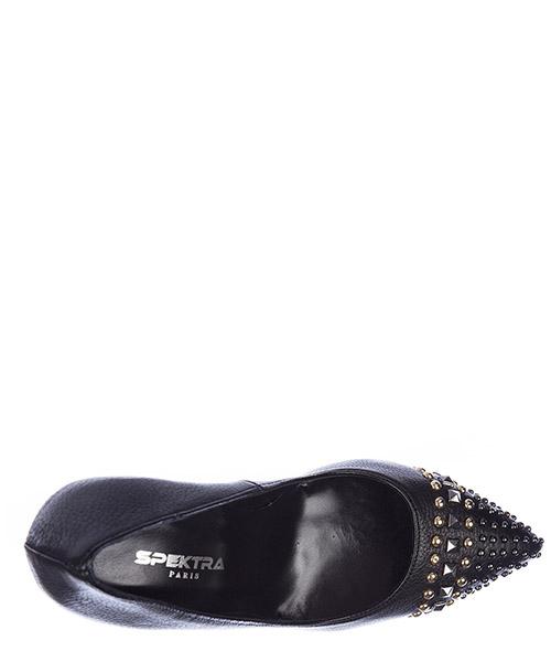 Damenschuhe leder pumps mit absatz high heels studs secondary image