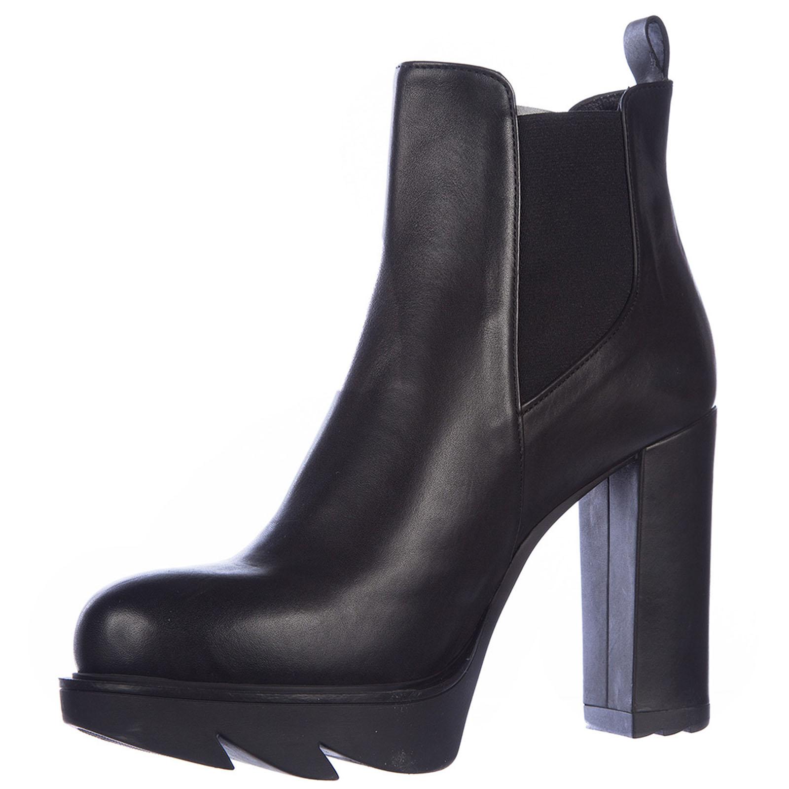 Damen leder stiefeletten stiefel ankle boots mit absatz