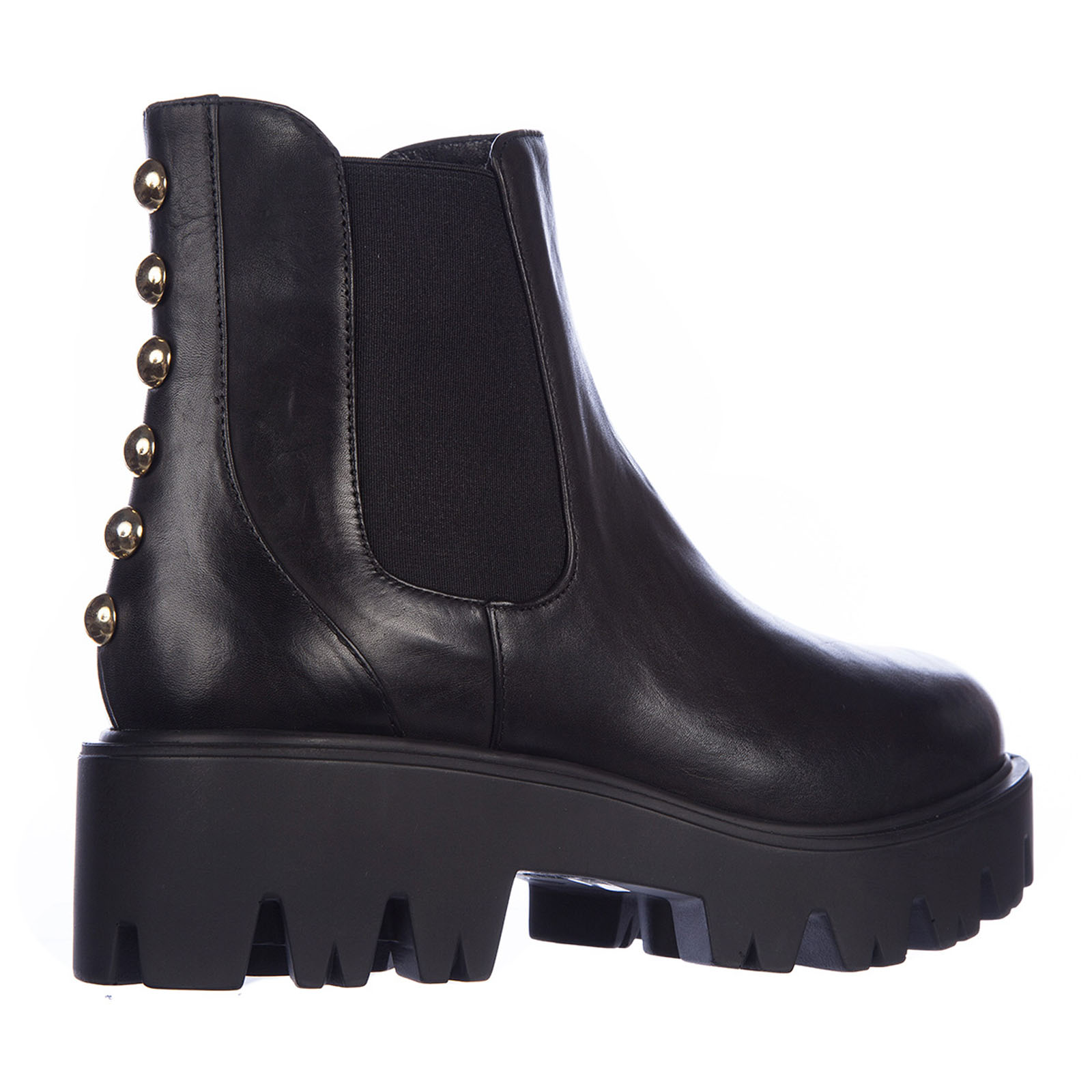 Women's leather ankle boots booties