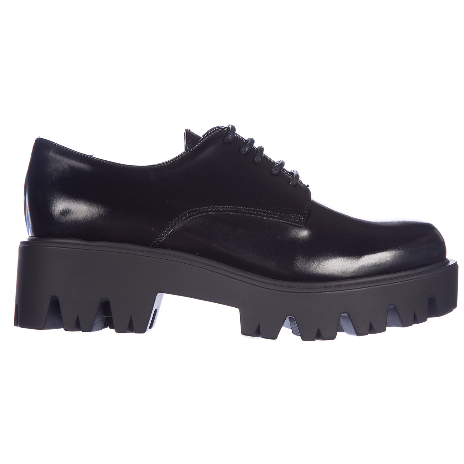Women's classic leather lace up laced formal shoes derby