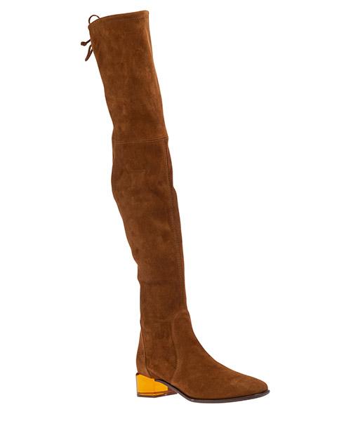 сапоги женские на каблуке кожаные charolet secondary image