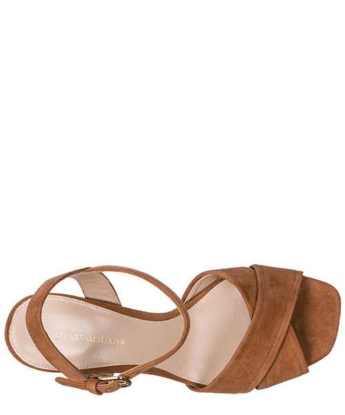 Damen wildleder sandalen mit absatz sandaletten secondary image