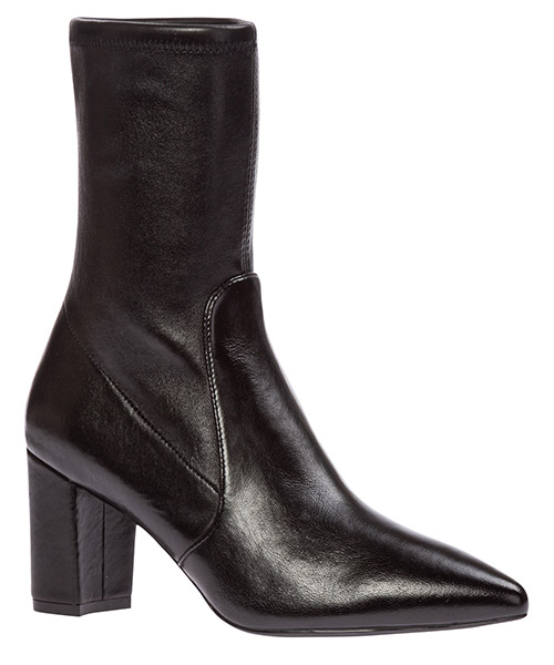 Women's leather heel ankle boots booties landry 75 secondary image