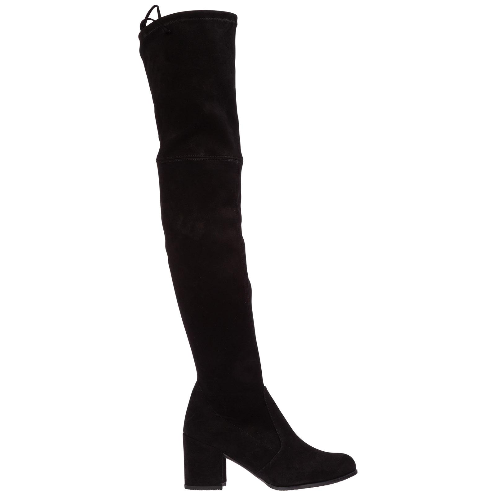 Damen wildleder mit absatz stiefel boots tieland