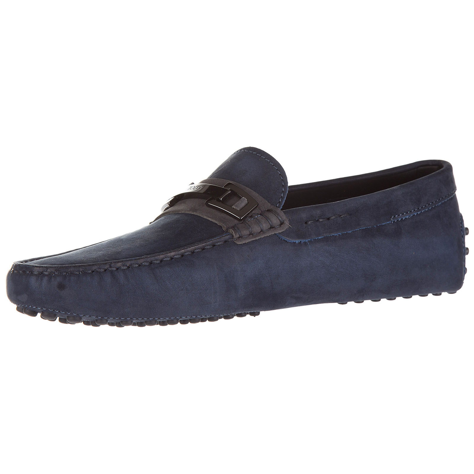 Men's suede loafers moccasins clamp