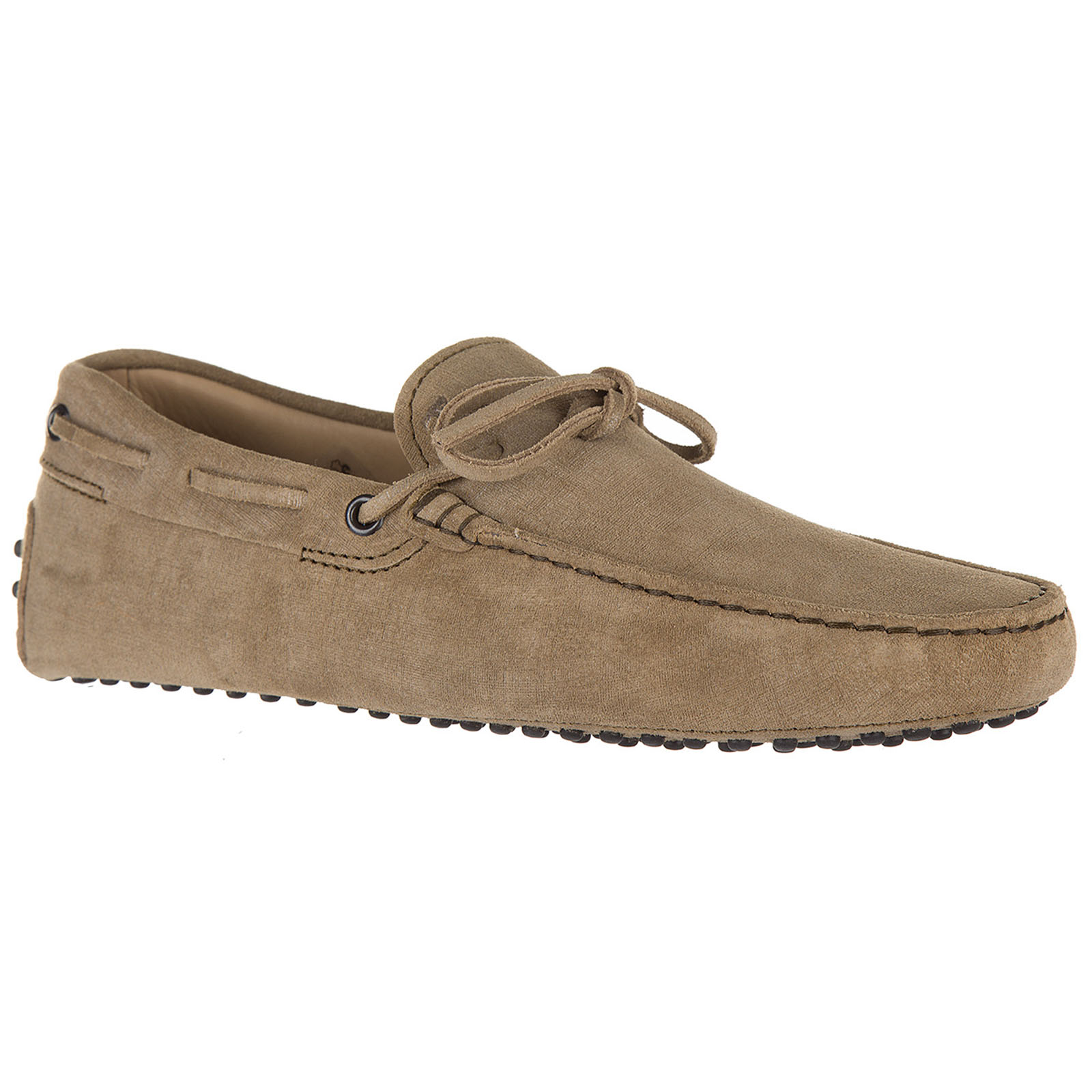 Men's leather loafers moccasins  laccetto gommini 122