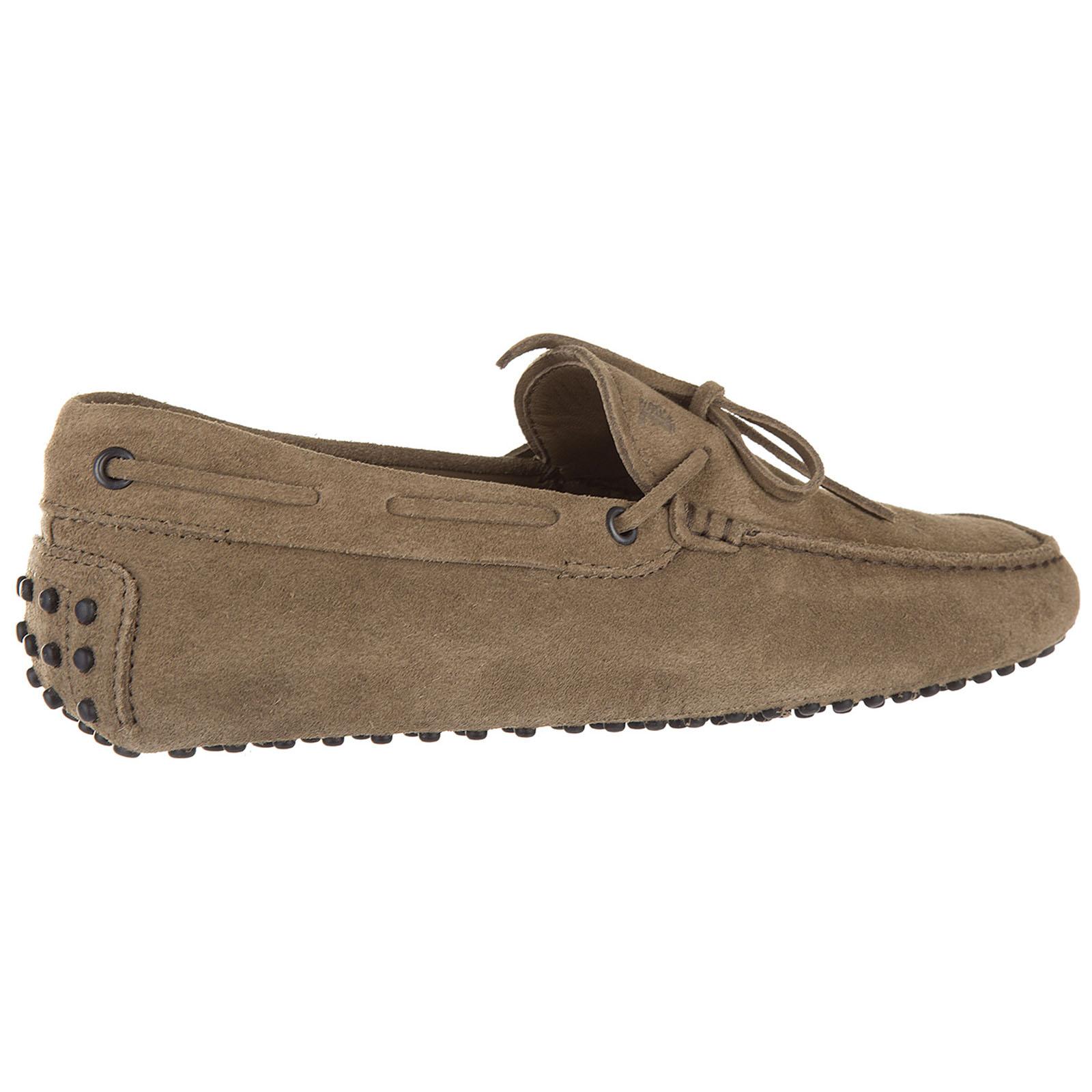 Men's suede loafers moccasins laccetto occhielli gommino 122