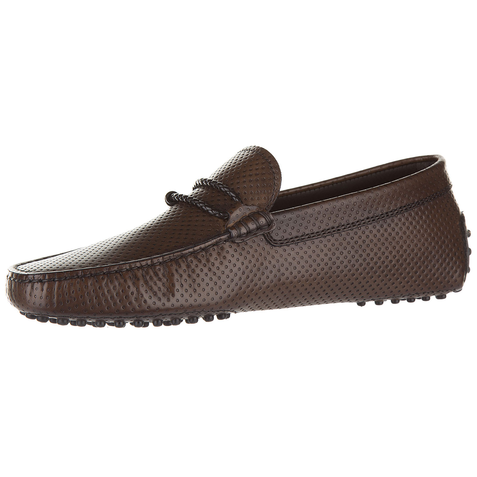 Men's leather loafers moccasins  morsetto club gommini 122