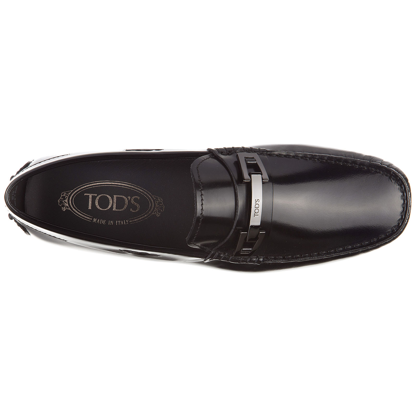 Men's leather loafers moccasins  clamp