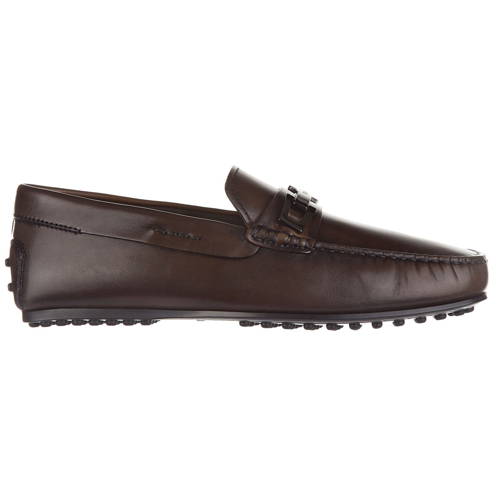 Men's leather loafers moccasins  clamp city