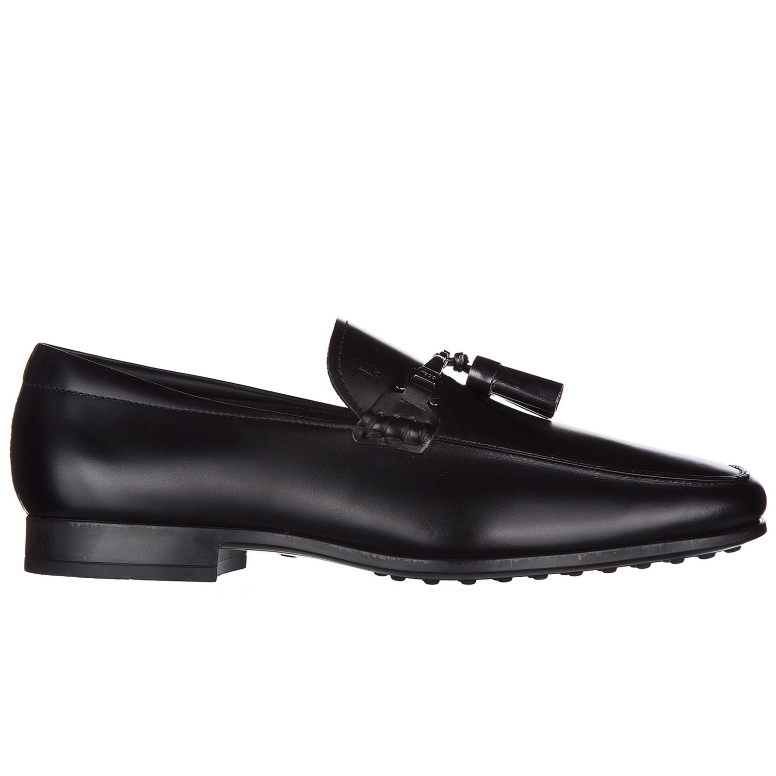 Men's leather loafers moccasins  double t