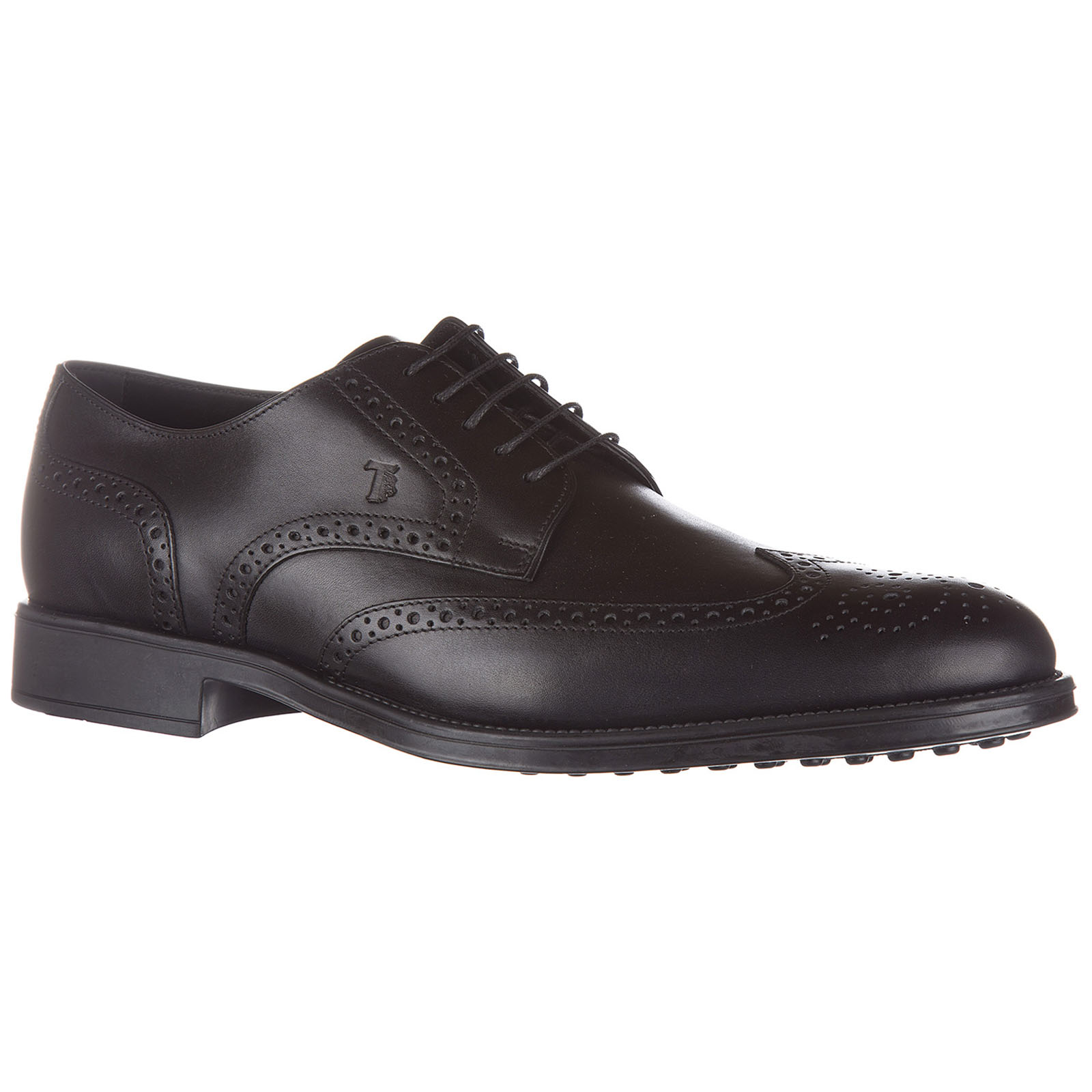 Men's classic leather lace up laced formal shoes derby bucature