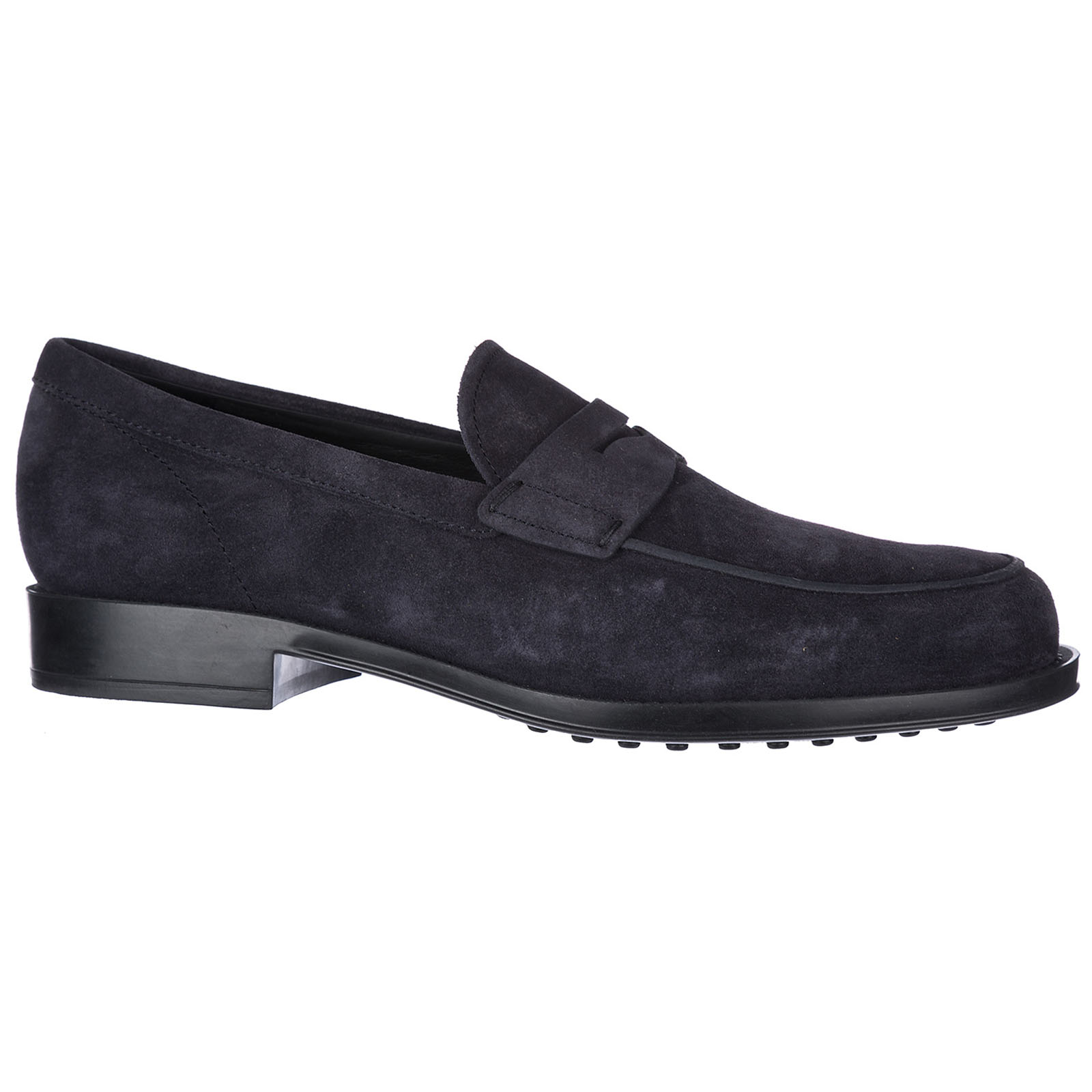 Men's suede loafers moccasins gomma classico