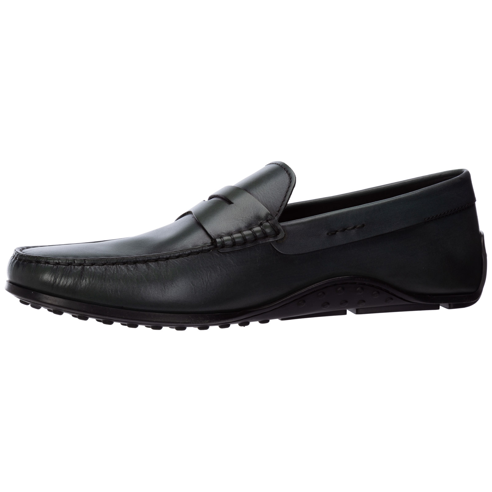 Men's leather loafers moccasins  gomma