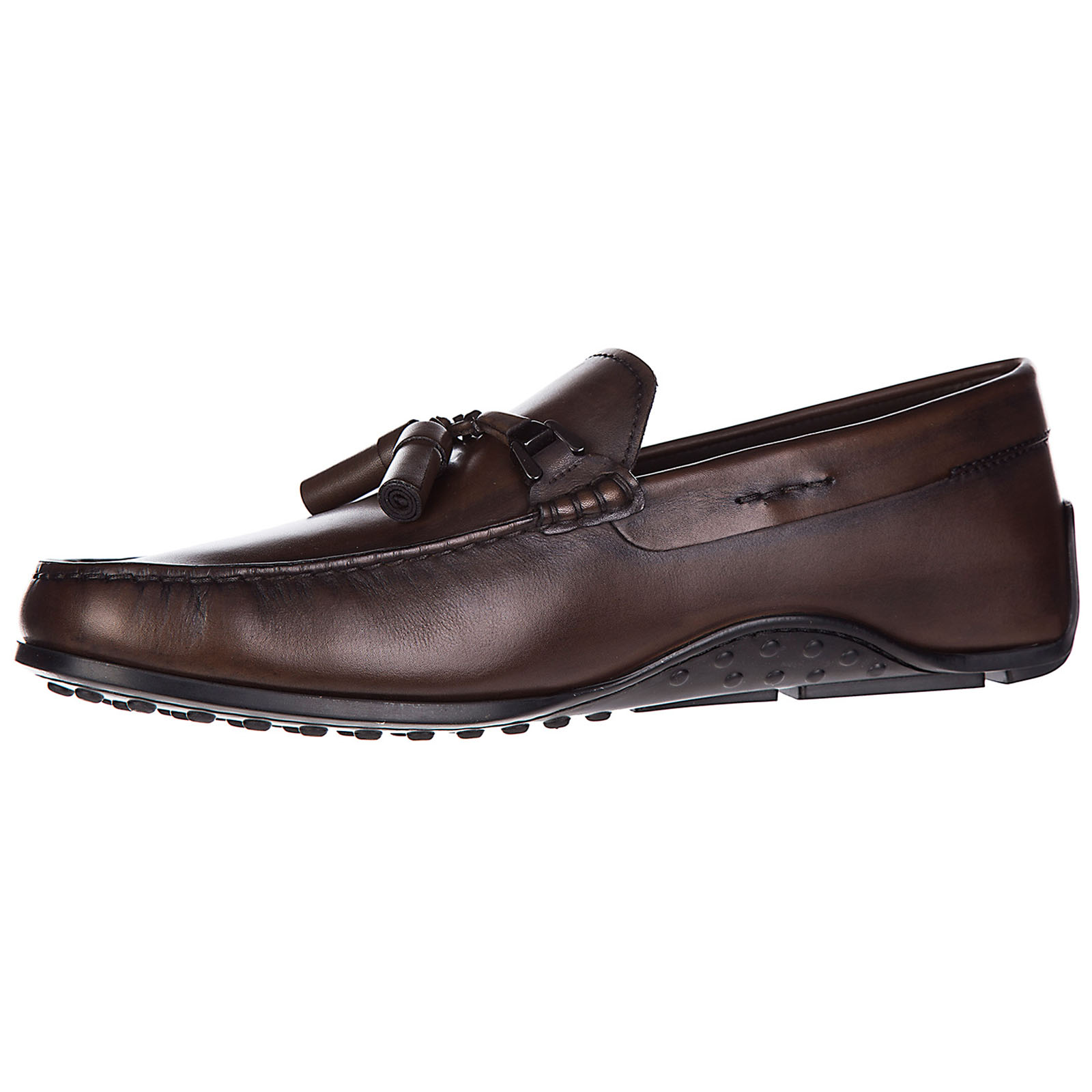 Men's leather loafers moccasins  double t nappine