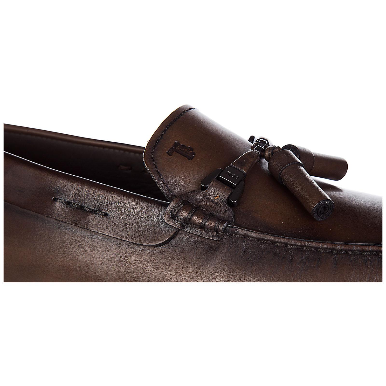мокасины мужские кожаные  double t nappine