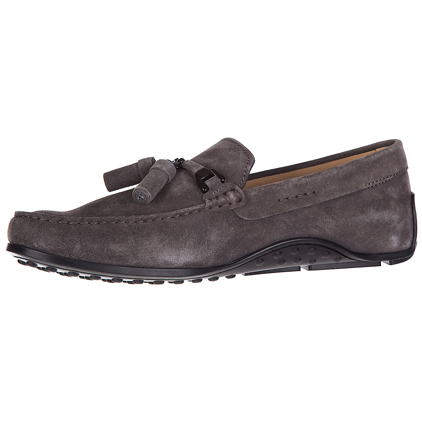 Men's suede loafers moccasins double t