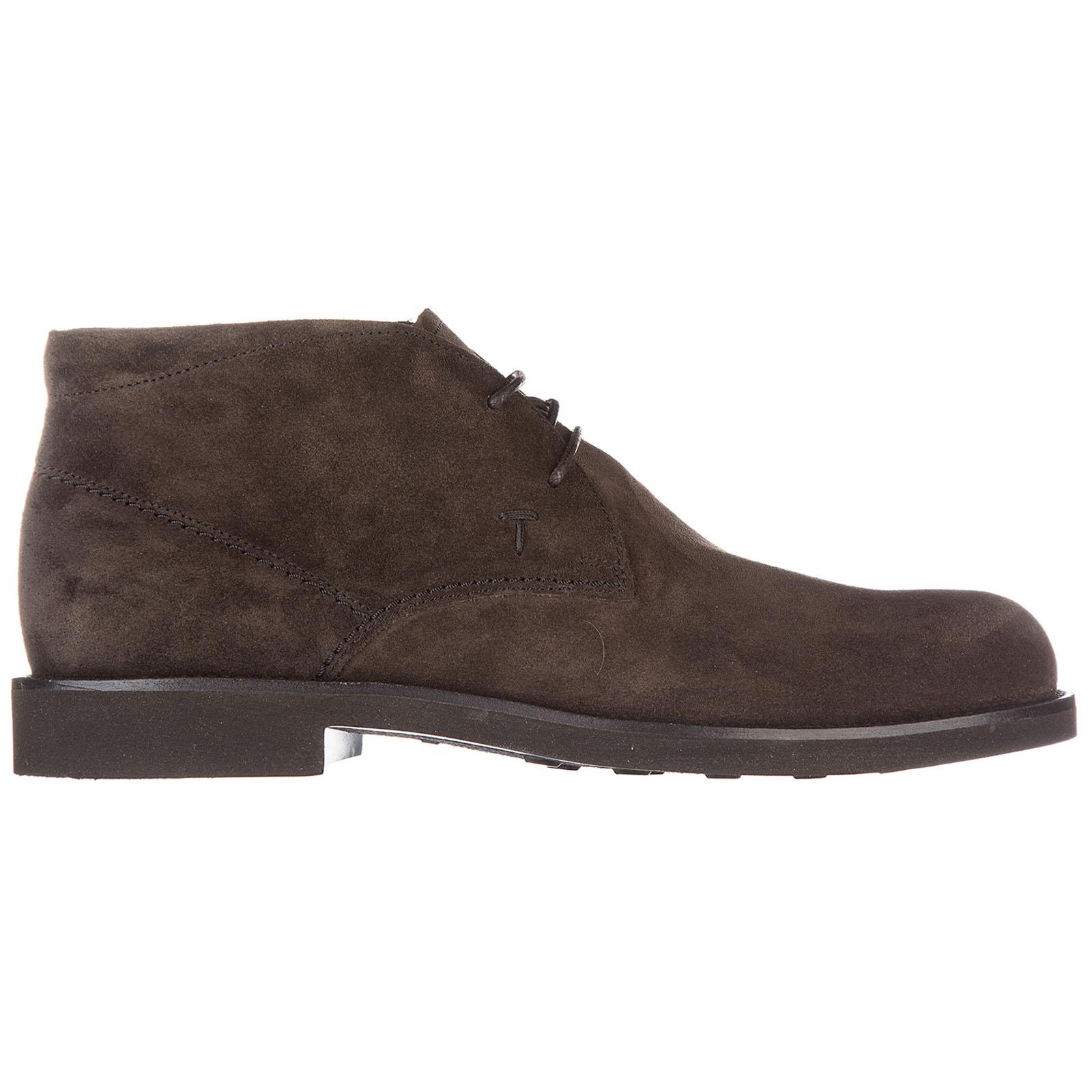 Botines zapatos en ante hombres gomma light