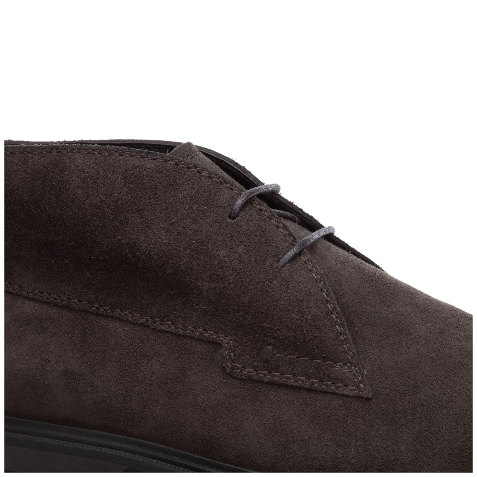 Men's suede desert boots lace up ankle boots polacco fondo gomma