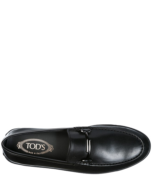 Men's leather loafers moccasins  double t secondary image