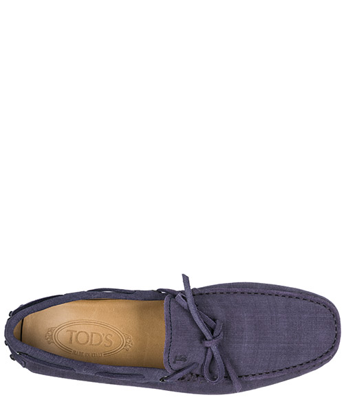 Men's leather loafers moccasins  laccetto gommino secondary image