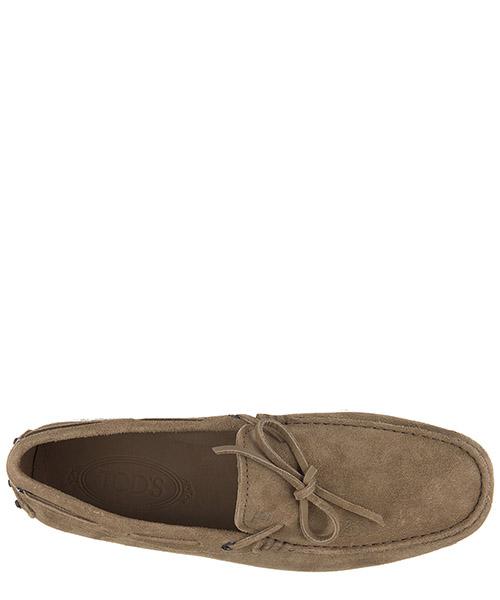Men's suede loafers moccasins laccetto occhielli gommini 122 secondary image