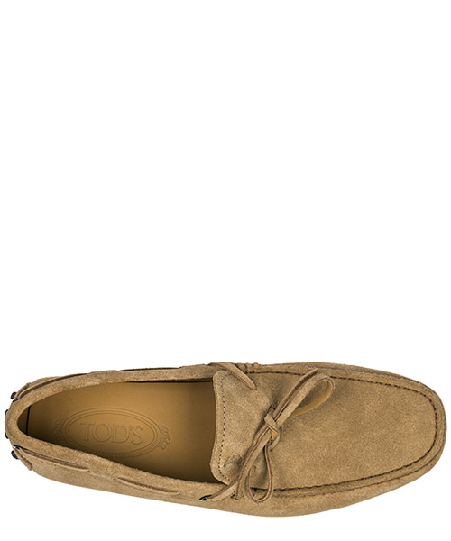 Men's suede loafers moccasins laccetto gommino secondary image