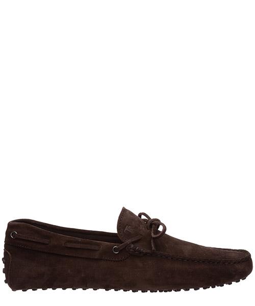 Men's suede loafers moccasins laccetto occhielli gommini