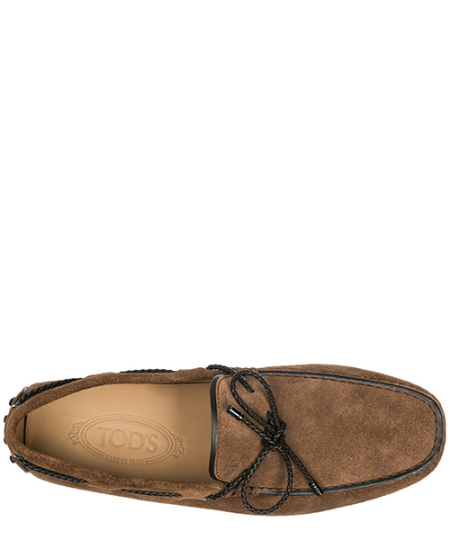 Men's suede loafers moccasins laccetto club gommino secondary image