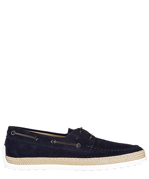 Men's suede loafers moccasins barca gomma rafia