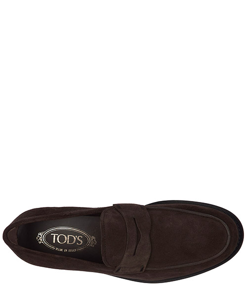 Men's suede loafers moccasins gomma classico secondary image