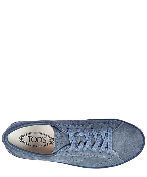 Zapatos zapatillas de deporte hombres en ante allacciato basso fondo cassetta secondary image