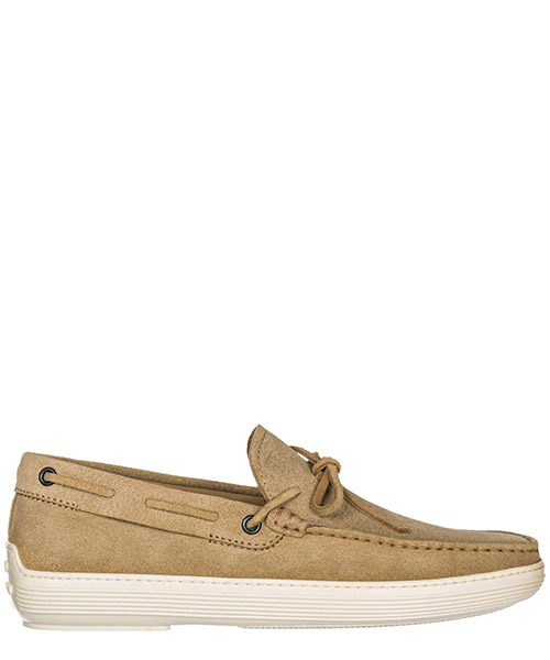 Men's suede loafers moccasins laccetto
