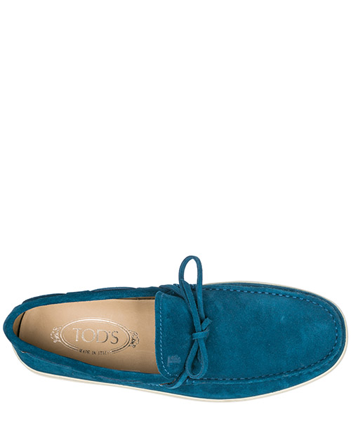 Men's suede loafers moccasins laccetto secondary image