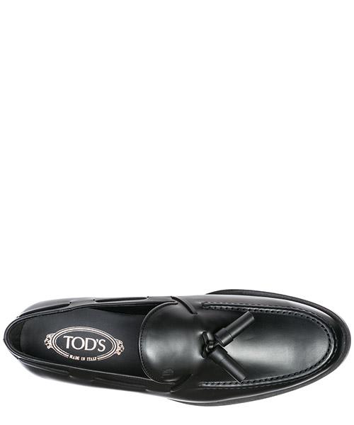 Mocassini uomo in pelle  pantofola nappina formale secondary image