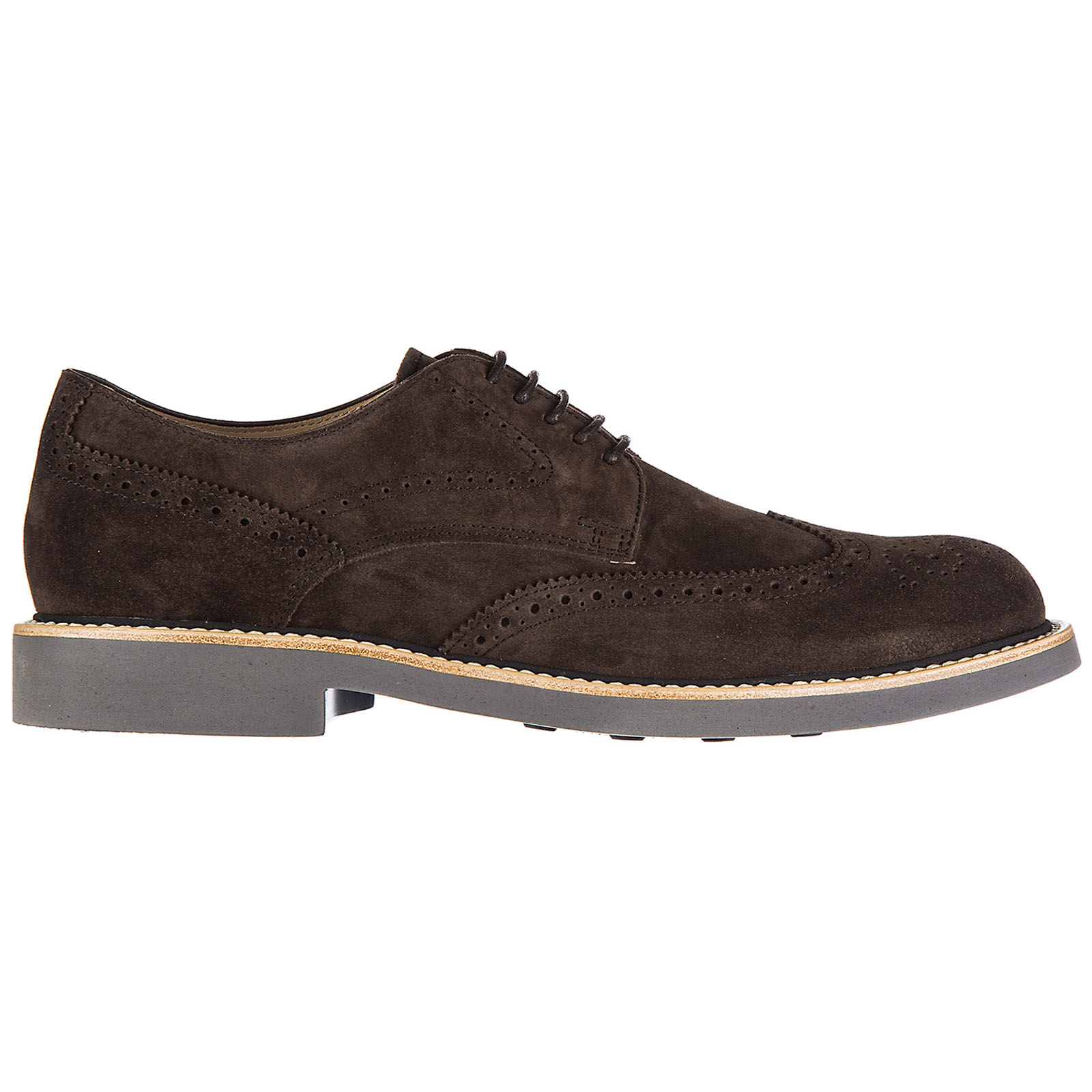 Men's classic suede lace up laced formal shoes bucatura fondo light derby