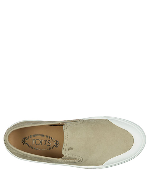 Men's suede slip on sneakers  pantofola cassetta gomma secondary image