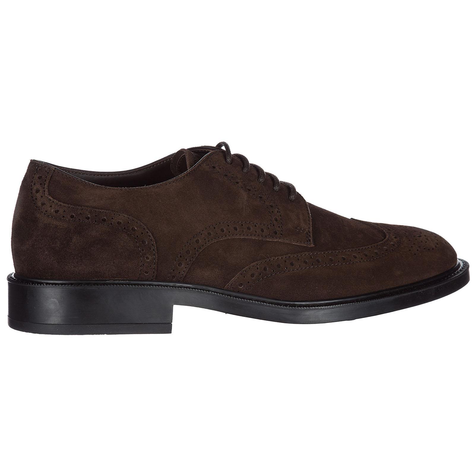 Clásico zapatos de cordones en ante hombres derby