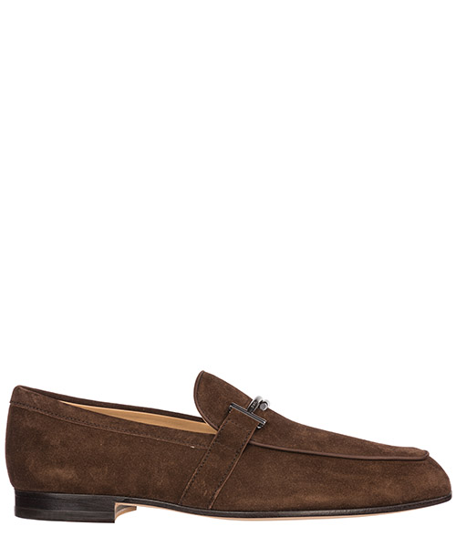 Men's suede loafers moccasins doppia t