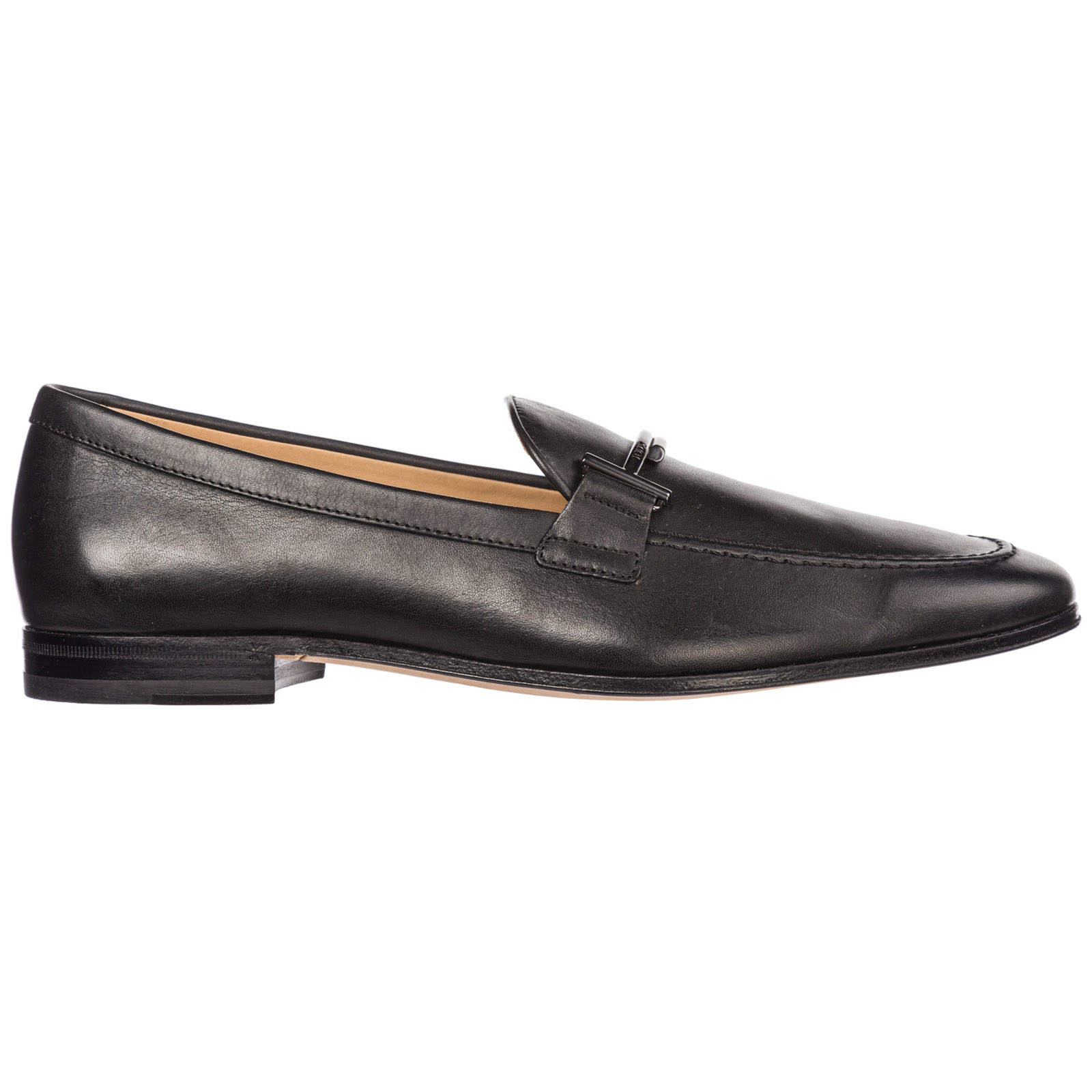 Tod's Men's Leather Loafers Moccasins In Black