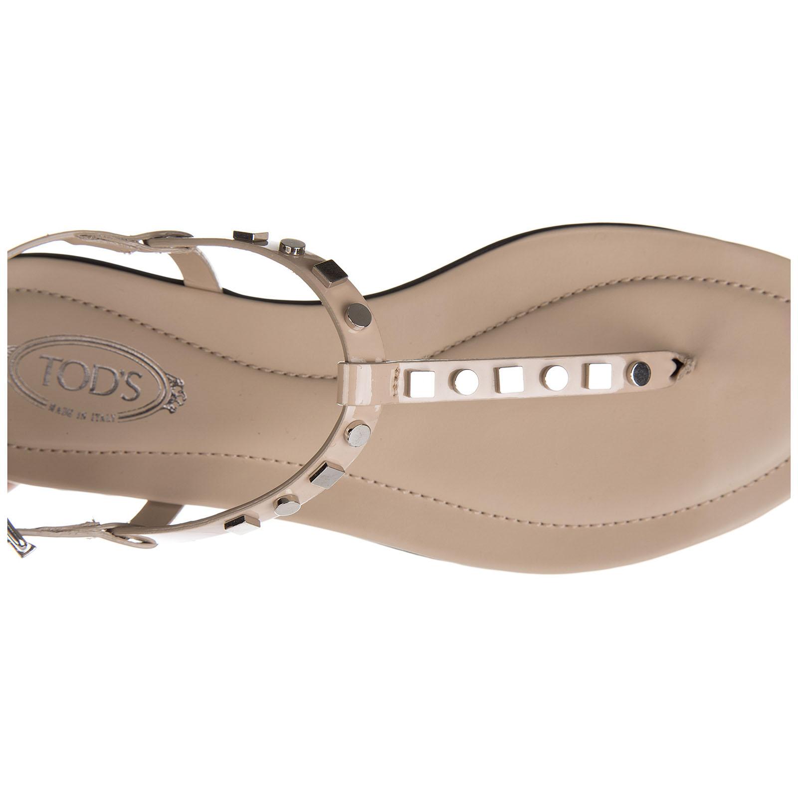 Damen leder flip flops zehentrenner sandalen