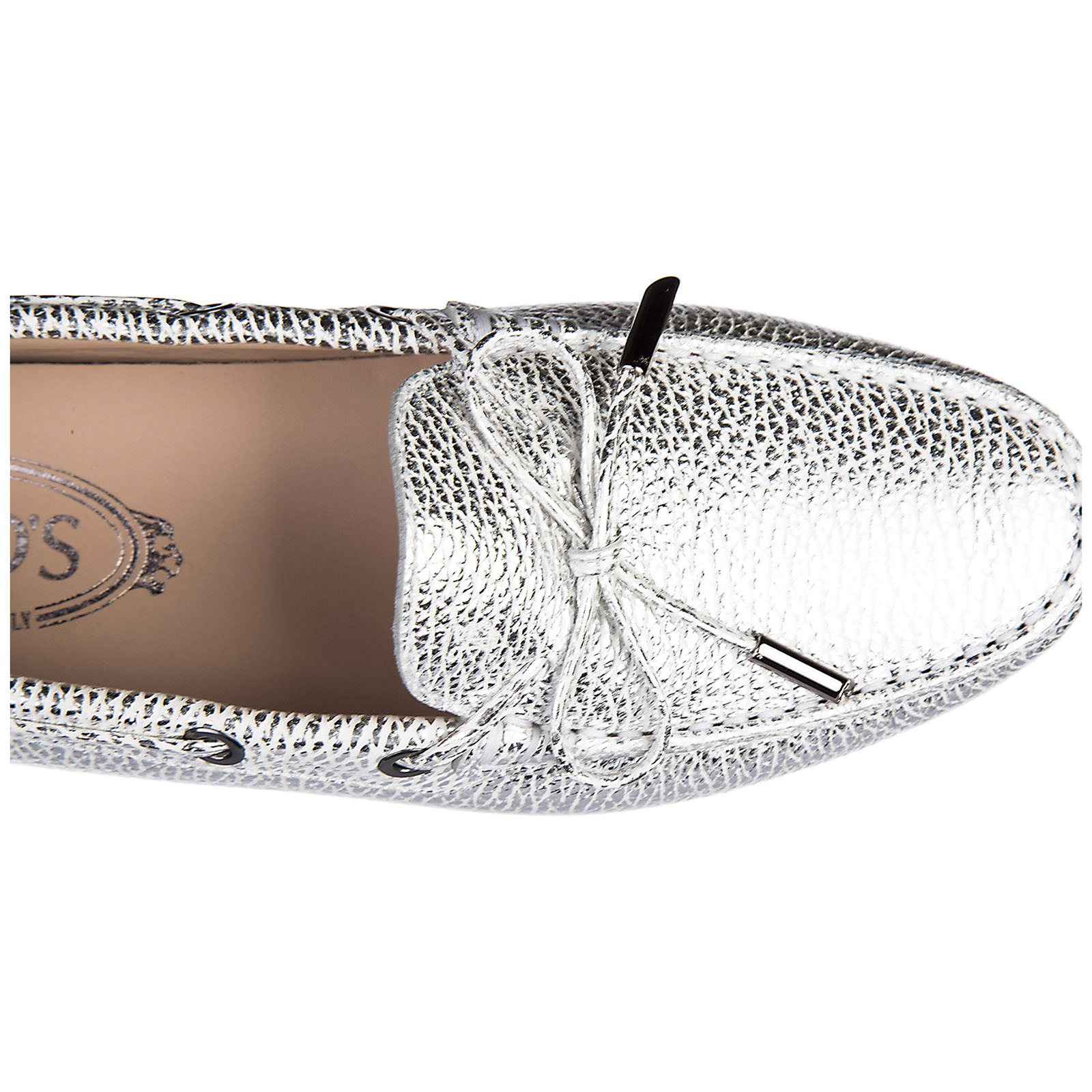 Women's leather loafers moccasins  heaven laccetto occhielli