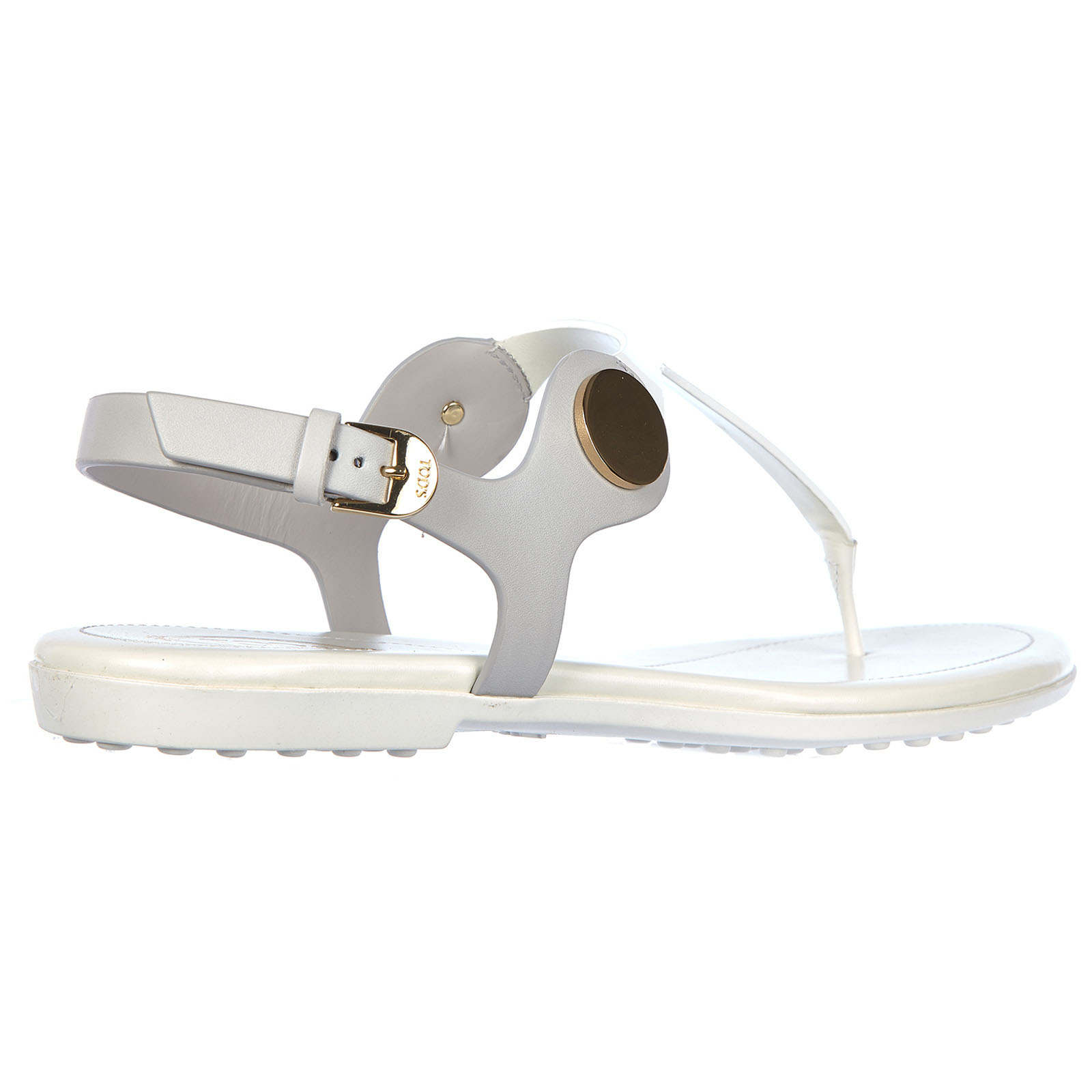 Women's leather flip flops sandals leggero bottone