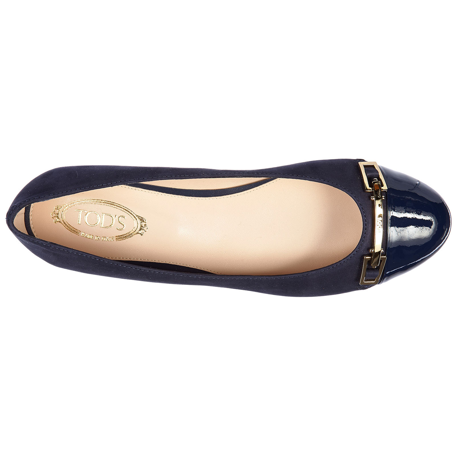 Women's leather ballet flats ballerinas  accessiorio clamp