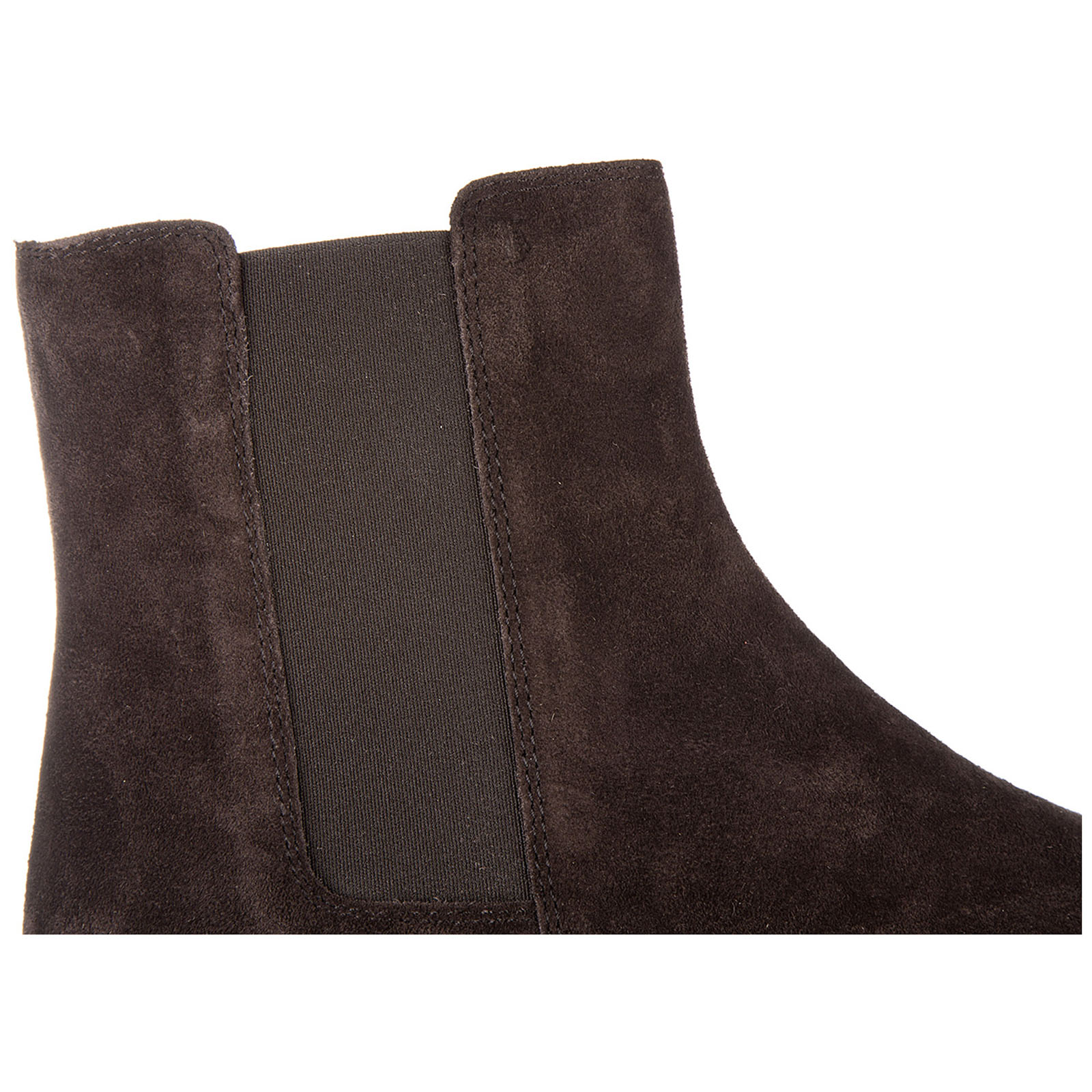 Women's suede ankle boots booties tronchetto elastico