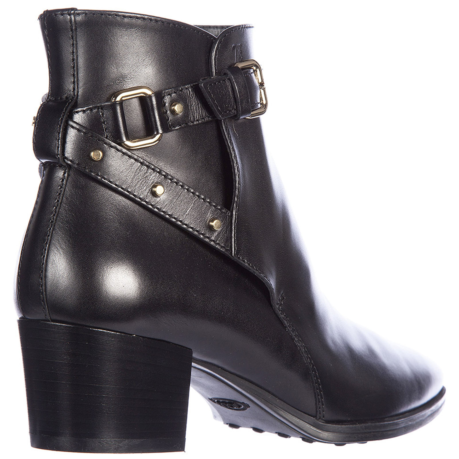 Women's leather ankle boots booties gomma xc cinturino