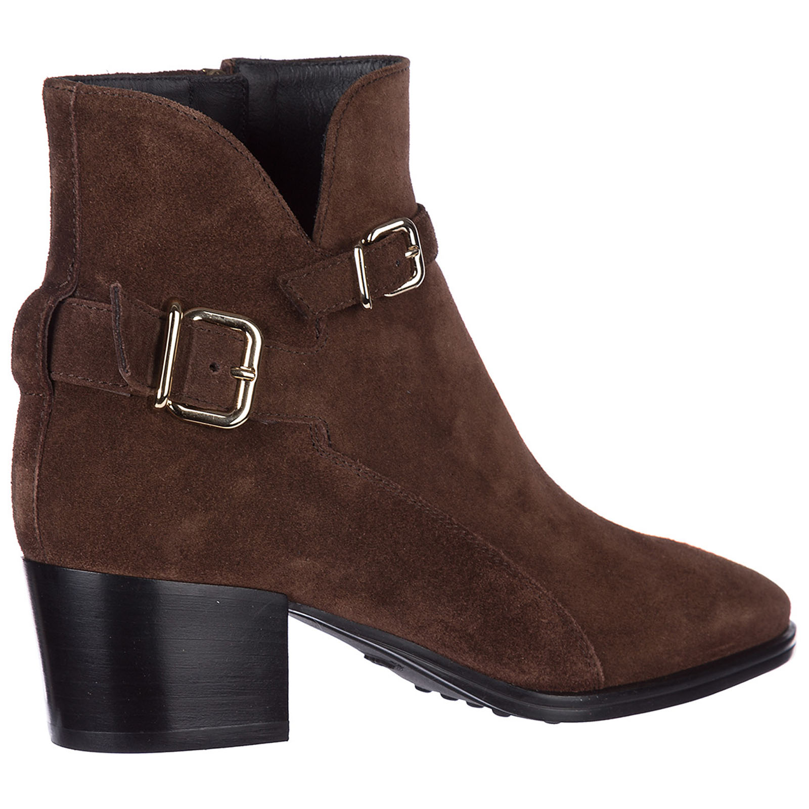 Women's suede heel ankle boots booties