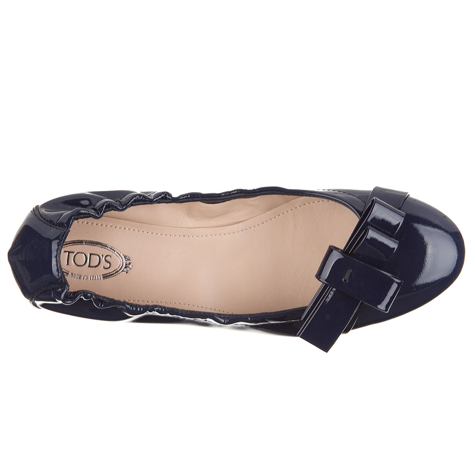 Women's leather ballet flats ballerinas  des yh bow