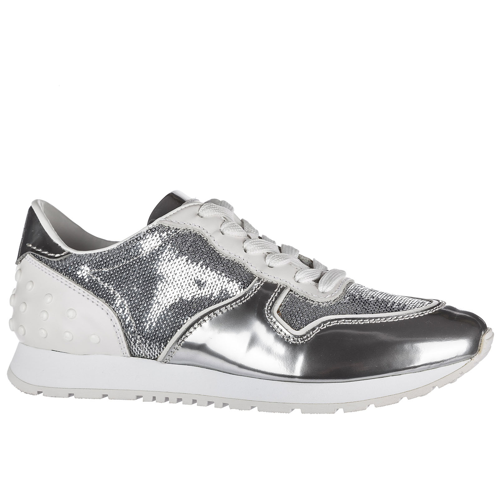 Women's shoes leather trainers sneakers sportivo allacciata
